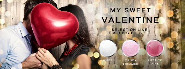Nails Factory My Sweet Valentine Farbgel 3er Set 3x5ml