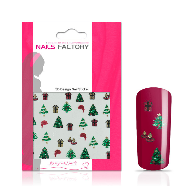 Nails Factory Nagelsticker colored Sanct Niclaus