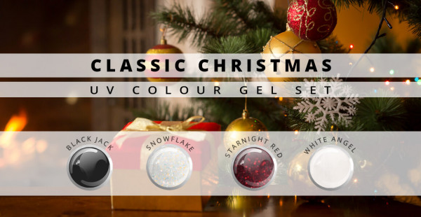 Nails and Beauty Factory Classic Christmas UV Colour Gel Set