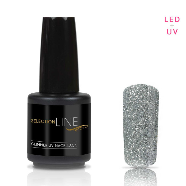 Nails & Beauty Factory Selection Line Glimmer UV Nagellack Silver 15ml