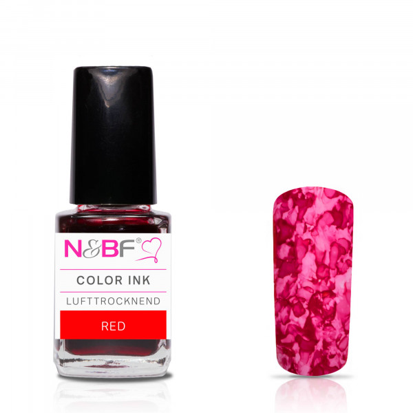 Nails & Beauty Factory Color Ink Red 12ml