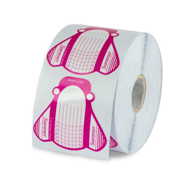 Nails Factory Modellierschablonen 500 Stück Pink-Weiß Extra Breit