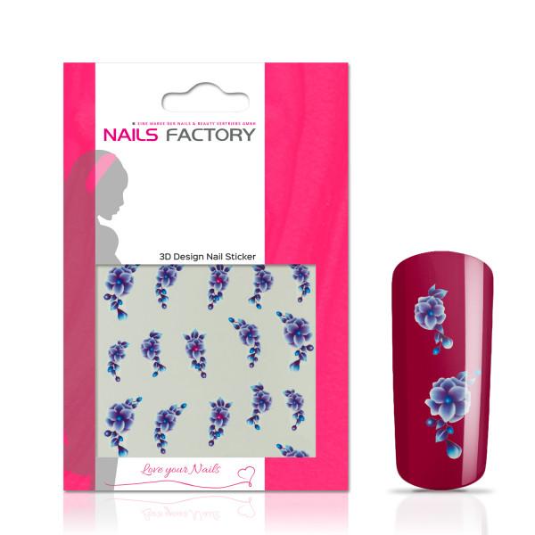 Nails Factory Nailart Nail Tattoo Blue Flower