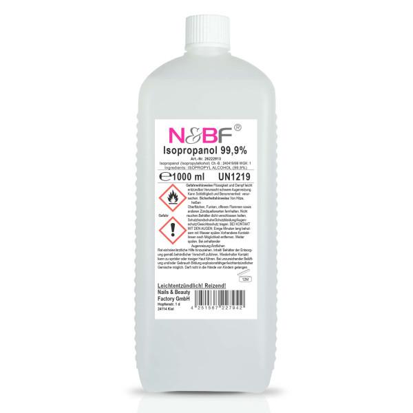 Nails & Beauty Factory Nagelcleaner 99,9% Isopropanol Alkoholanteil kosmetisch rein