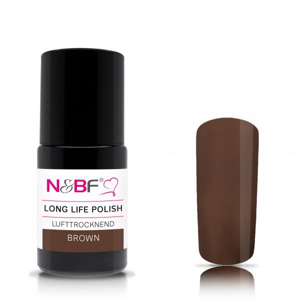 Nails & Beauty Factory Long Life Nagellack Brown 15ml