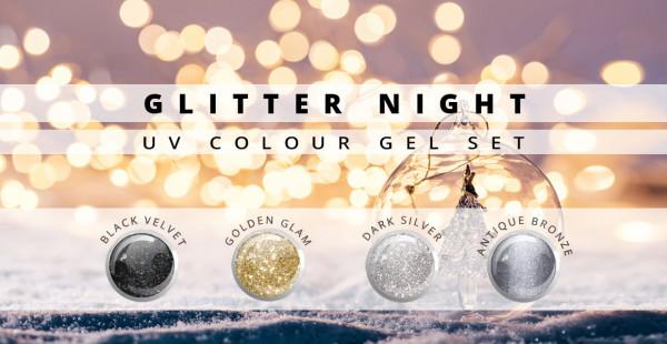 Nails & Beauty Factory Glitter Night Farbgel 4er Set