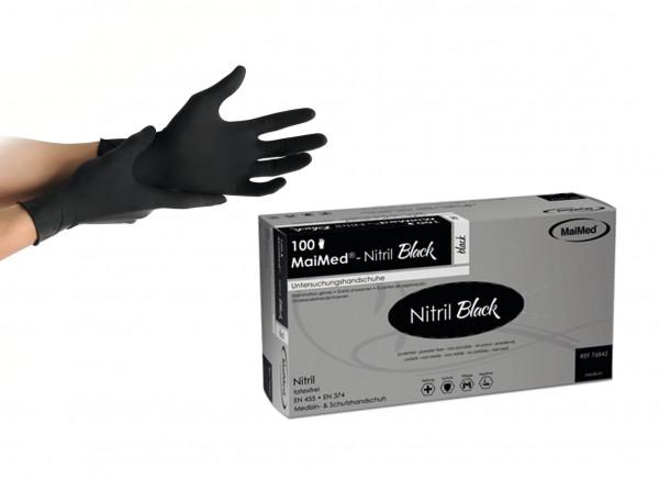 MaiMed Nitril Handschuh black Gr. S 100er Box