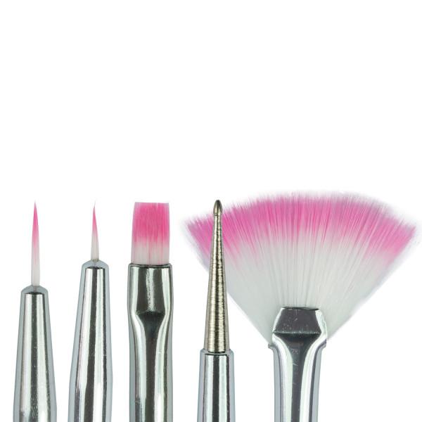 Nails Factory Nailart Pinsel 5er Set Köpfe