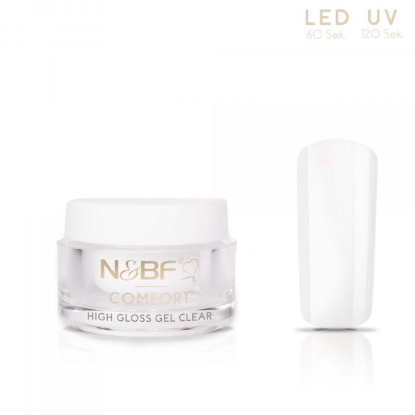 Nails & Beauty Factory Comfort High Gloss Gel Clear 5ml 1