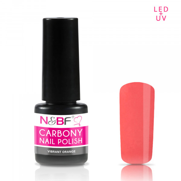 Nails & Beauty Factory Carbony Nail Polish Vibrant Orange