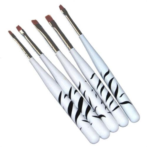 Gel Pinsel Zebra Design Echthaar 5er Set