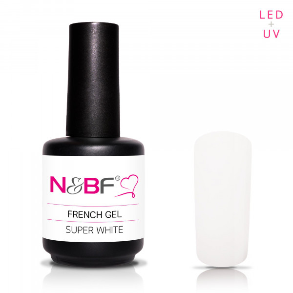 Nails & Beauty Factory French Gel Super White 15ml
