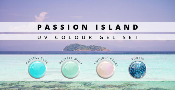 Nails & Beauty Factory UV Farbgelset Passion Island 4er Set