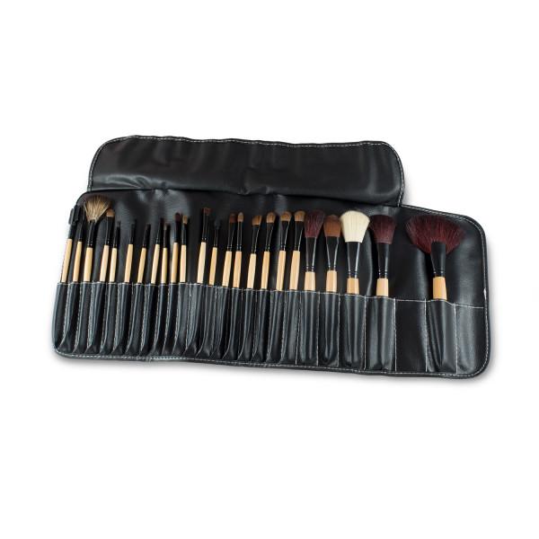 Nails Factory Make Up Pinsel Echthaar Griff Natur 24er Set