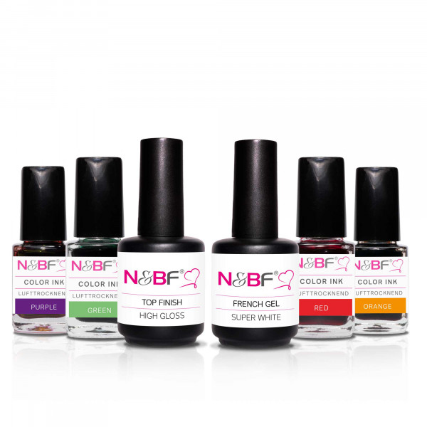 Nails & Beauty Factory Color INK Starter Set Rainbow