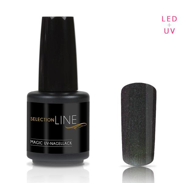 Nails & Beauty Factory Selection Line Magic UV Nagellack Black Stratos Green 15ml