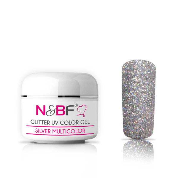 Nails-and-Beauty-Factory-Glitter-UV-Color-Gel-Farbgel-Silver-Multicolor