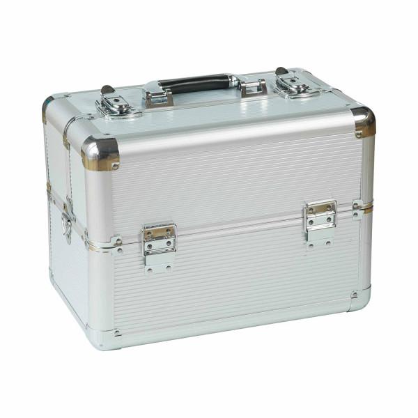 Kosmetikkoffer kompakt Silver Design rund