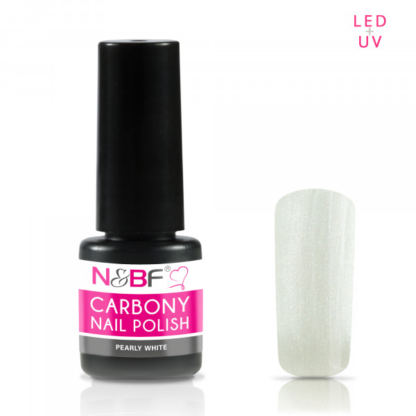 Nails & Beauty Factory Carbony Nail Polish Pearly White 5ml