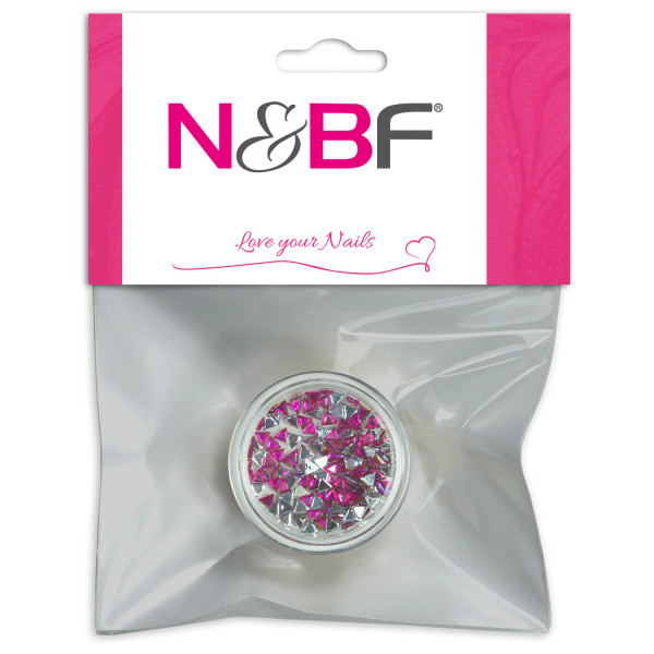 Nails-and-Beauty-Factory-Strasssteine-Rhinestones-Triangle-Pink