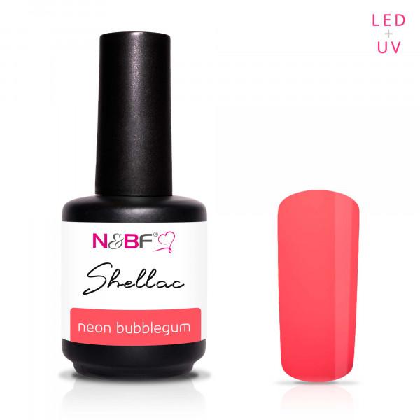 Nails & Beauty Factory Shellac Neon Bubblegum 12ml