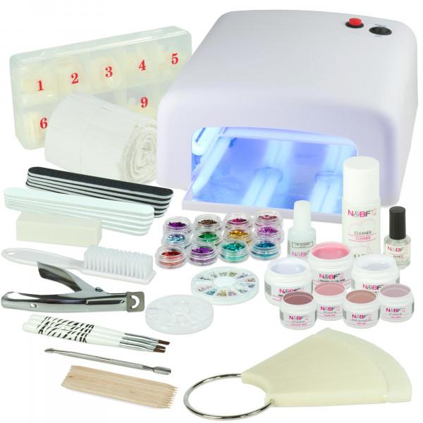Nails & Beauty Factory UV Gel Nagelstudio Starter Set Weiß Caramel Flavour