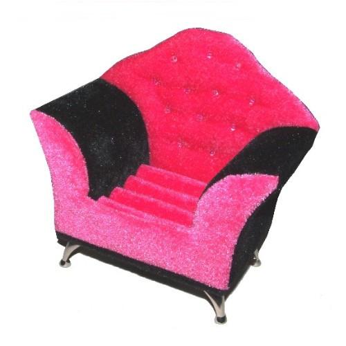 Schmucksessel Schmuckkästchen pink schwarz