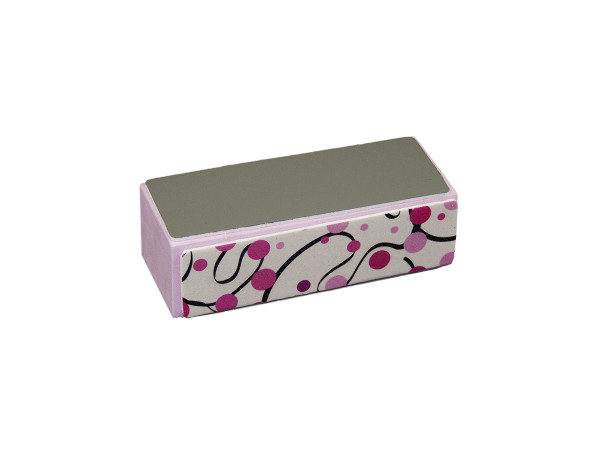 Hochglanz Polierblock Pink Design Lines 10er Set