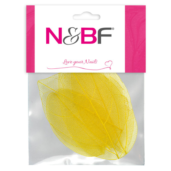 Nails-and-Beauty-Factory-Nailart-Skelettblaetter-Yellow