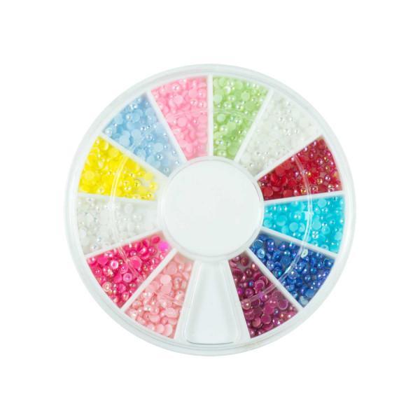 Nails Factory Nailart Pearls Rainbow Mittel 720 Stück