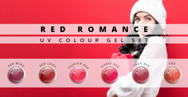 Nails and Beauty Factory UV Colour Gel Set Red Romance