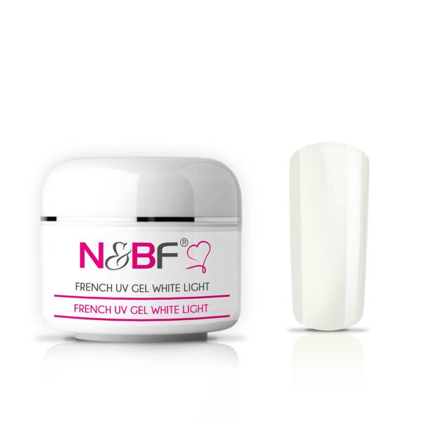 Nails & Beauty Factory French White Light UV Gel mittelviskos 15 ml