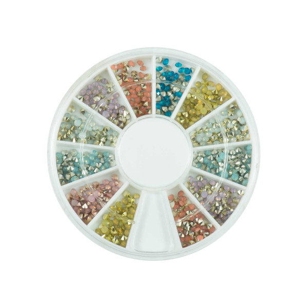 Nails Factory Strasssteine Rondell V-Form Multi Color 720 Stück