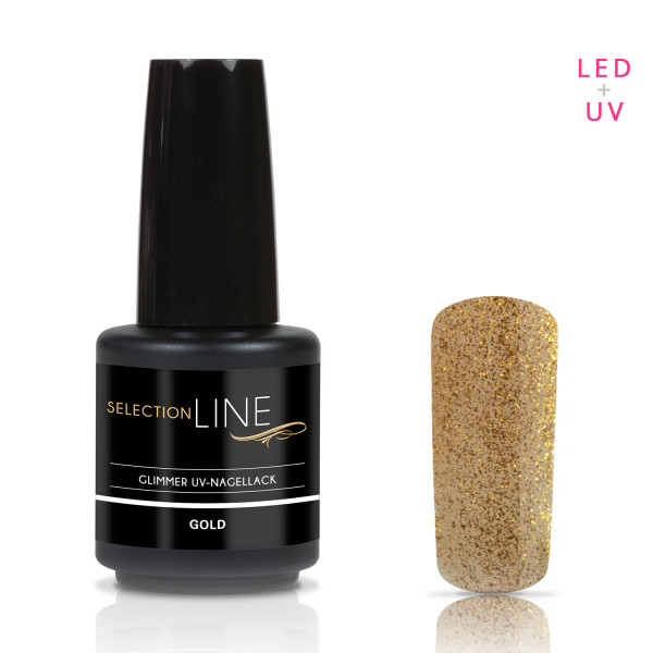 Nails & Beauty Factory Selection Line UV Nagellack Glimmer Gold 15ml