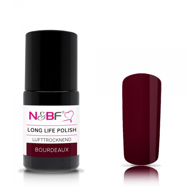 Nails & Beauty Factory Long Life Nagellack Bourdeaux 15ml