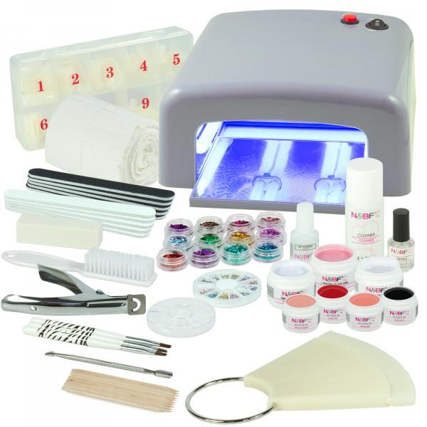 Nails & Beauty Factory UV Gel Starter-Set Favorite Colors Silber
