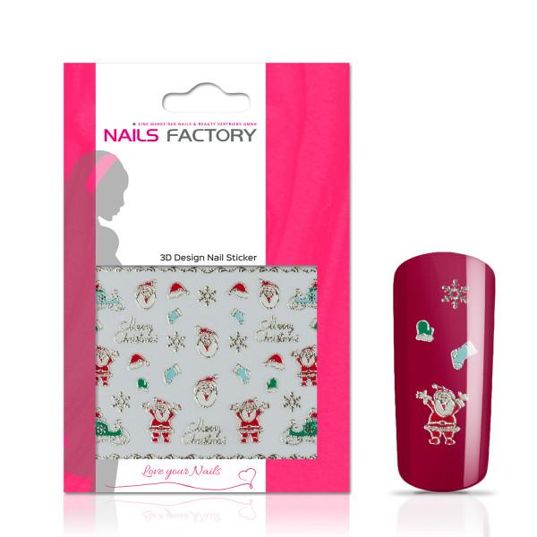 Nails Factory Nagelsticker Christmas green gold Merry Christmas