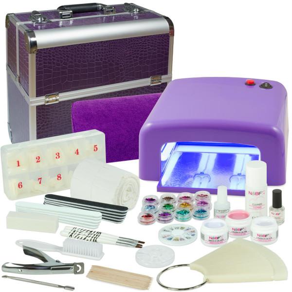 Nails & Beauty Factory Mobiles Nagelstudio Starter Set Lila Croco Design