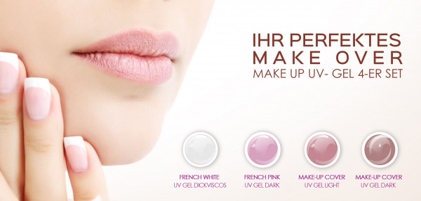 French Pink UV Gel mittelviskos MUCG Set 15ml