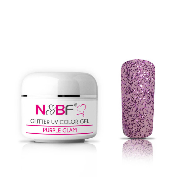 Nails-and-Beauty-Factory-Glitter-UV-Color-Gel-Farbgel-Purple-Glam