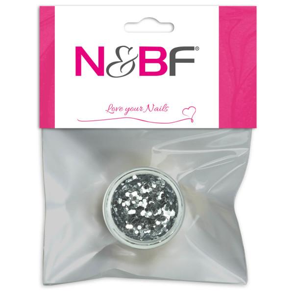 Nails Factory Naialrt Pailletten mittel Dark Silver Blster