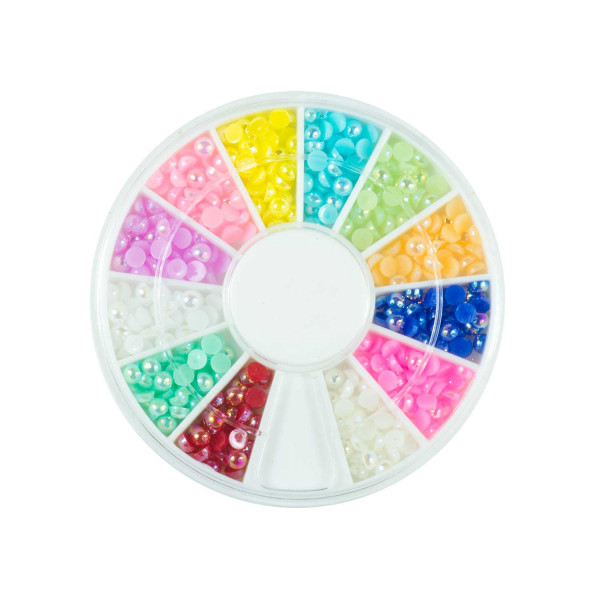 Nails Factory Nailart Pearls Rainbow Groß 720 Stück