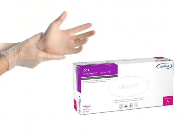 Nails Beauty Factory MaiMed Vinylhandschuhe weiß Gr. S 100er Box only Hand