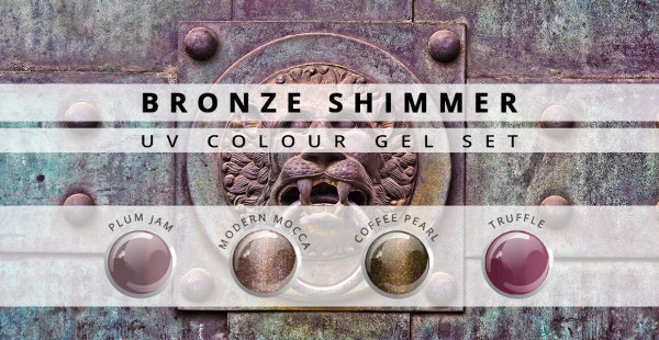 Nails & Beauty Factory UV Farbgel Set Bronze Shimmer