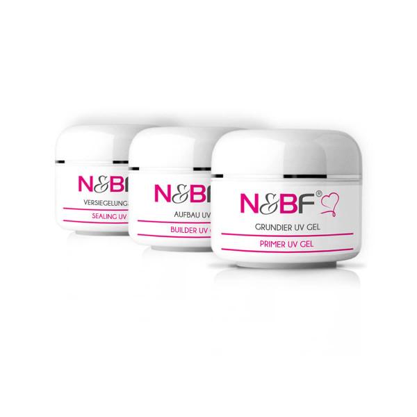Nails & Beauty Factory UV Gel Probe Set Nr. 1 3x5ml