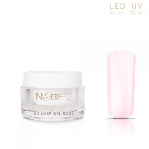 Nails & Beauty Factory Comfort Builder Gel Rosé 5ml 1