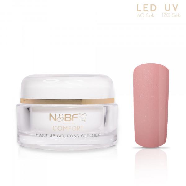 Nails & Beauty Factory Comfort Line Make Up Gel Rosa Glimmer 15ml