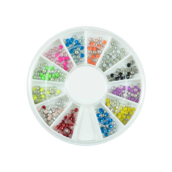 Nails Factory Neon Nailart Stones Rondell klein 500 Stück
