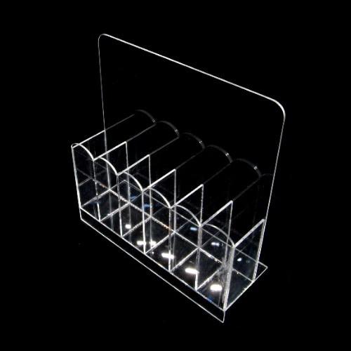 Feilenbox, Aufbewarungsbox aus Acryl, 6 Fächer