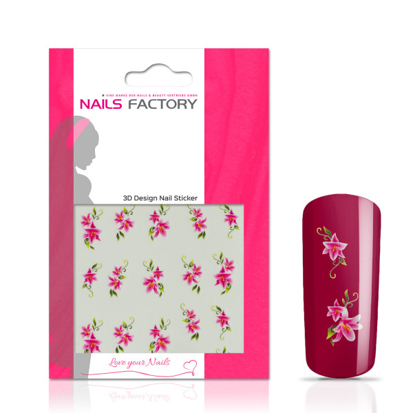 Nails Factory Nailart Nail Tattoo Pink Lily